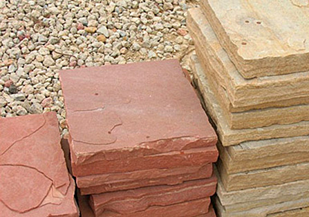 flagstone cut into blocks